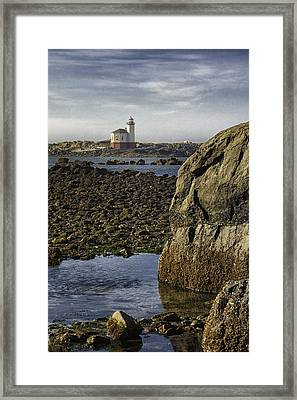 Coquille River Lighthouse Framed Print by Jeanne Hoadley