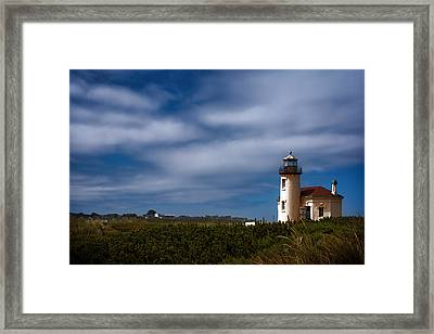 Coquille River Lighthouse Framed Print by Joan Carroll