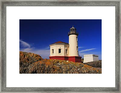 Coquille River Lighthouse Framed Print by Mark Kiver