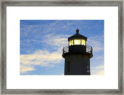 Ghost Light Coquille River Lighthouse Oregon 3 Framed Print by Bob Christopher