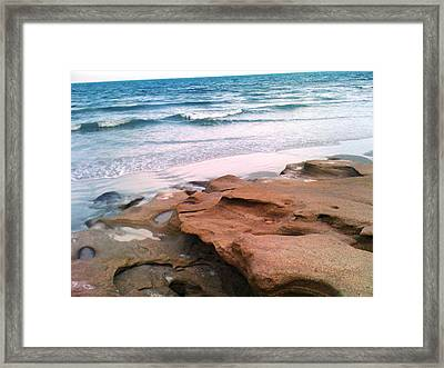 Coquina Blue Framed Print by Julie Wilcox