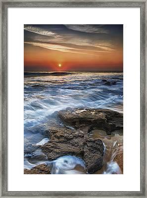 Coquina Sunrise II Framed Print