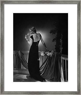 Cora Hemmet Wearing A Vionnet Gown Framed Print