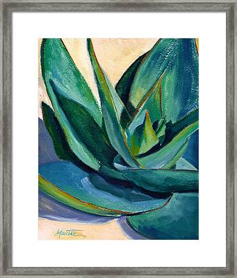 Coral Aloe 2 Framed Print by Athena Mantle