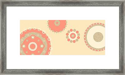 Framed Print featuring the digital art Coral And Cork by Kjirsten Collier