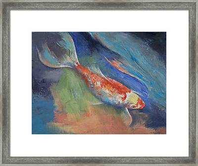 Coral And Moonstone Framed Print by Michael Creese