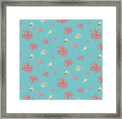 Coral And Shells Framed Print