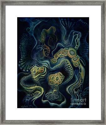 Coral Dive Framed Print