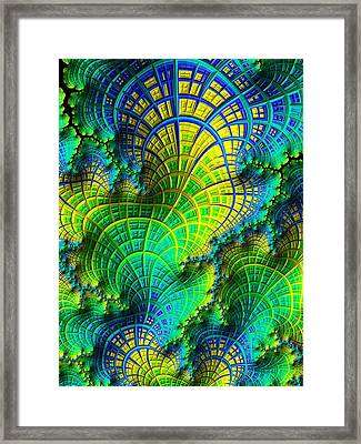 Coral Electric Framed Print