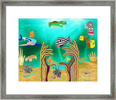 Coral Hands Framed Print