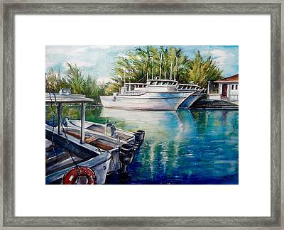Coral Harbour 3 Framed Print