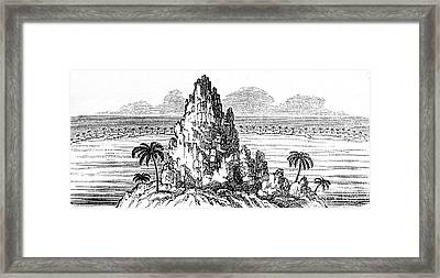 Coral Island Reef Creating A Lagoon Framed Print by Universal History Archive/uig