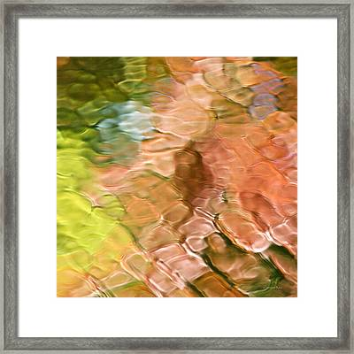 Coral Mosaic Abstract Square Framed Print