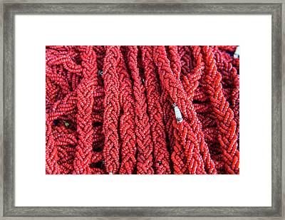 Coral Necklaces, Tabarka, Tunisia Framed Print by Nico Tondini
