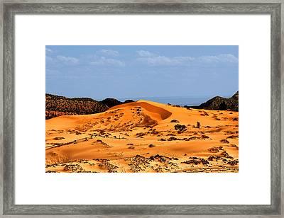 Coral Pink Sand Dunes Utah Framed Print by Christine Till