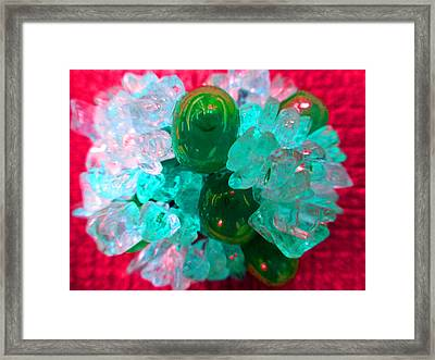 Coral Pop Framed Print