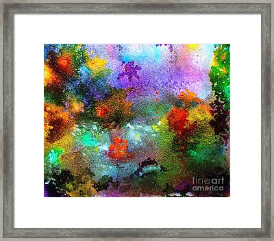 Coral Reef Impression 1 Framed Print by Hazel Holland