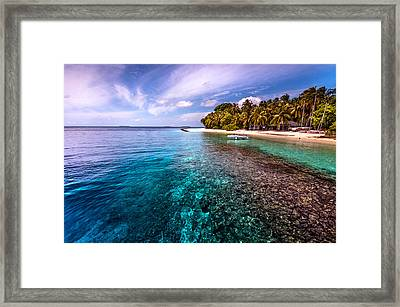 Coral Reef At Royal Island Resort Framed Print by Jenny Rainbow