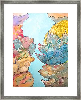 Coral Reef Small Framed Print by Maya Simonson