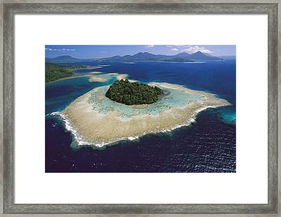 Coral Reefs And Islands Kimbe Bay Framed Print