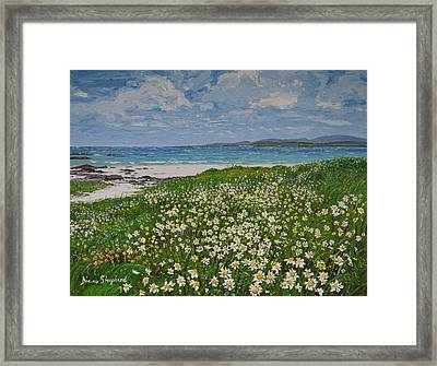 Coral Strand On A Windy Day Connemara Framed Print