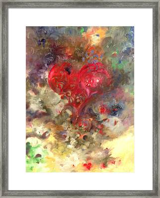 Corazon Framed Print by Julio Lopez