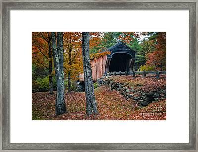 Corbin Covered Bridge Newport New Hampshire Framed Print by Edward Fielding