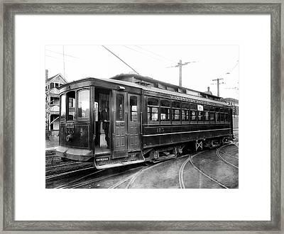 Corbin Park Street Car No. 175 - 1915 Framed Print