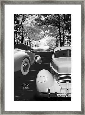 Cord 810/812 Bw Framed Print