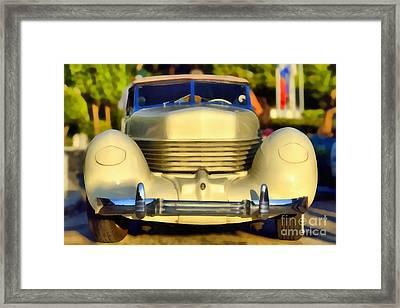 1936 Cord Phaeton 810 Framed Print