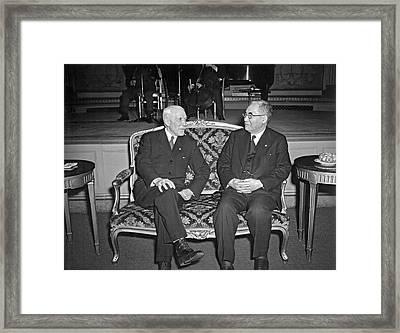 Cordell Hull With Adm. Nomura Framed Print