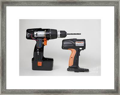 Cordless Drill Components Framed Print