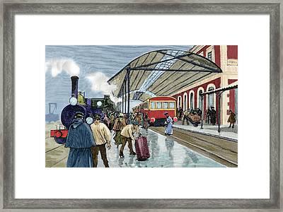 Cordoba Station Arrival Of A Passenger Framed Print by Prisma Archivo