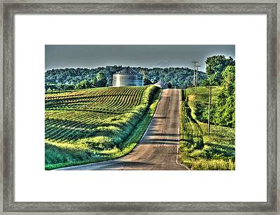 Corduroy Corn And Seersucker Silos Framed Print