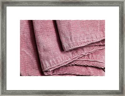 Corduroy Trousers Framed Print by Tom Gowanlock