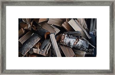 Cordwood Framed Print