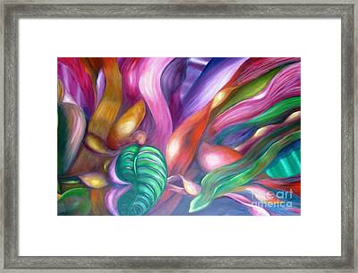 Cordylines - Original Sold Framed Print by Therese Alcorn