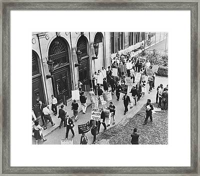 Core Pickets Columbia U Framed Print