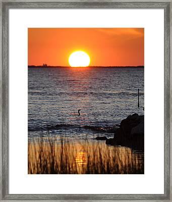 Core Sound Sunset Framed Print
