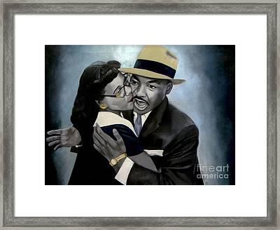 Coretta And Martin Framed Print