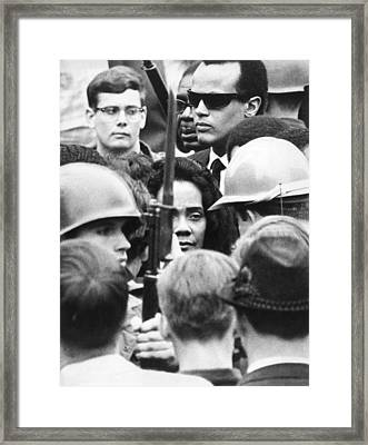 Coretta King & Harry Belafonte Framed Print by Underwood Archives