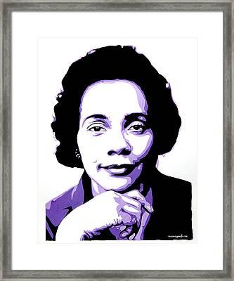 Coretta Scott King Framed Print by Nancy Mergybrower