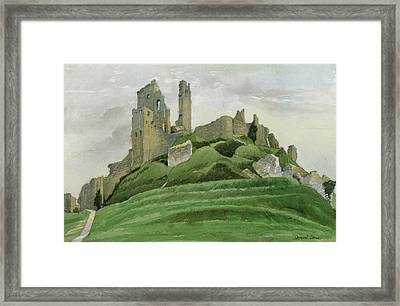 Corfe Castle Framed Print by Osmund Caine