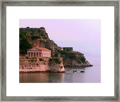 Corfu Pavillion Framed Print
