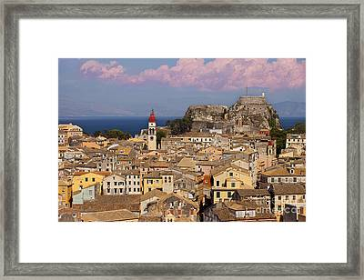 Corfu Town Framed Print by Brian Jannsen