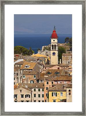 Corfu Town Greece Framed Print by Brian Jannsen