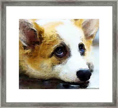 Corgi Art - That Look Framed Print