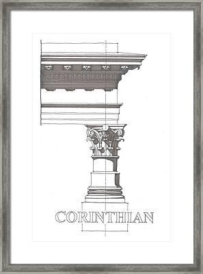 Corinithian Order Framed Print