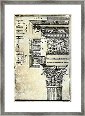 Corinthian Capitol Framed Print by Jon Neidert