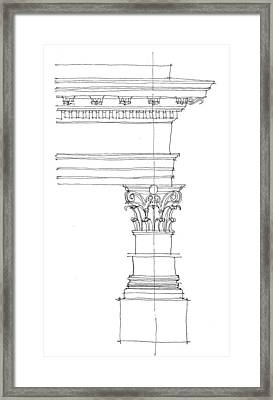 Corinthian Order Framed Print by Calvin Durham